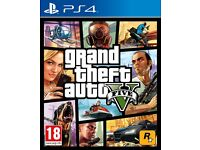GTA V PS 4 game boxed in excellent condition