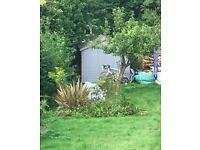 Grey/blue beautiful Garden Shed