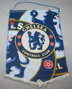CHELSEA FC Large Hanging Pennant Flag 42x28cm Official CFC Vintage Old Stock