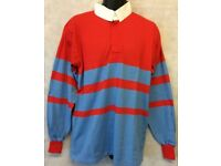 "Mens Rugby Shirt Stripe Long Sleeve Rugby Jersey Polo Shirt Top Size 44"" #4837"