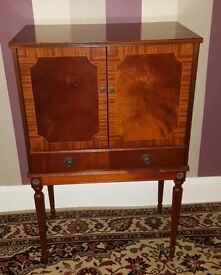 Period Mahogany two door cocktail cabinet