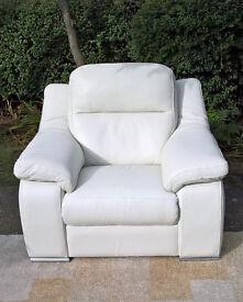 Ex-display Sisi Italia Ivory Leather Arm Chair