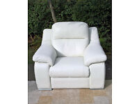 Ex-display Sisi Italia Ivory Leather Arm Chair
