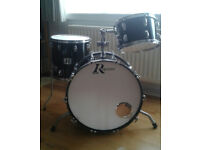 "Rogers USA 'Big-R' 24"", 16"", 13"" 1970's vintage 3-piece, in black"