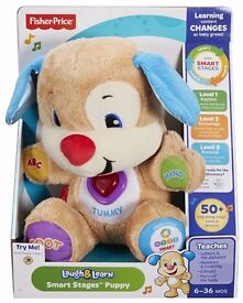 Fisher Price Laugh and Learn Puppy Educational Sing Soft Cuddly Teddy Bear Toy