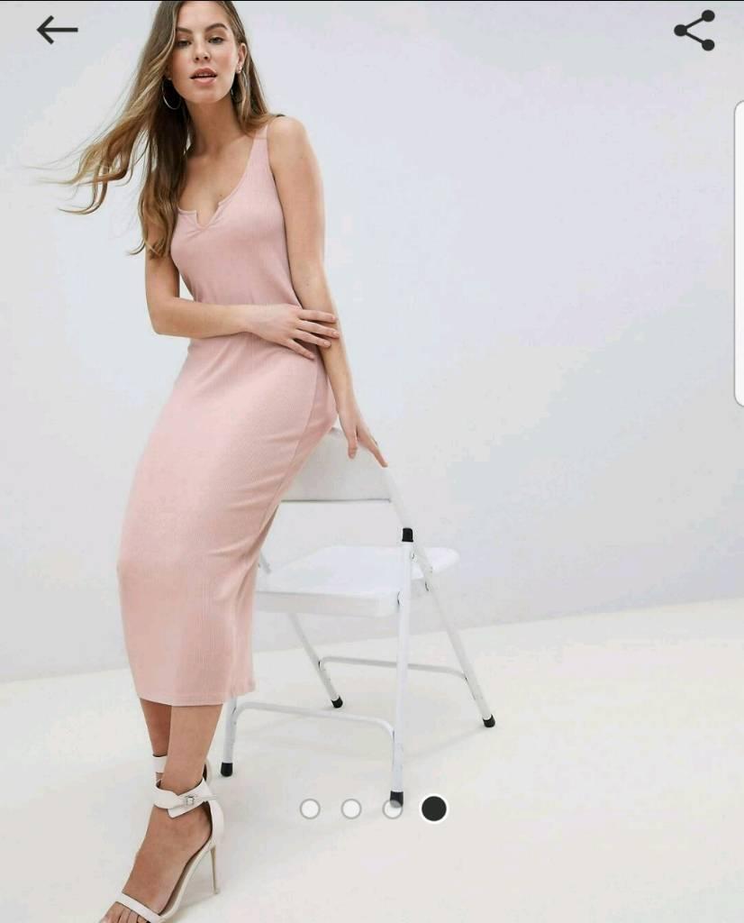 e7e0b51a6b Asos nude detail ribbed midi dress size in bristol gumtree JPG 826x1024 Asos  pink dress