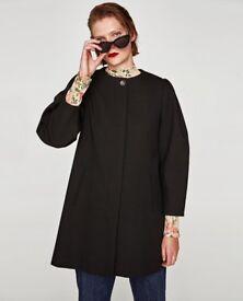 Zara bnwt black coat, size M