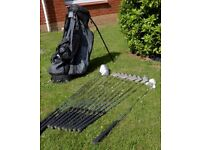 Full Set of Regal Pro Orbit Clubs & Ping Hoofer Golf Bag