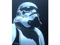 Star Trooper Acrylic Painting on 16 ins x 20ins Canvas