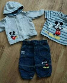 Mickey Mouse 3 piece set age 0-3 months