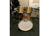 Immaculate Pearl BCX Drum kit - BCX924XSP - Bronze Glitter + Hard cases by Hardware