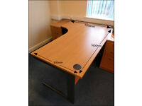 Office Desk - Beech Effect