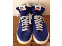 Nike Blazers hi tops 6 blue suede