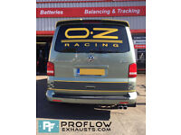 VW T5 Transporter Stainless Steel Custom Exhaust Back Box Twin Tailpipe
