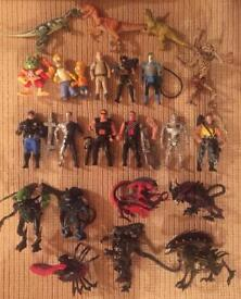 """Collection of vintage Kenner 6"""" action figures from 1990-1994. From the Terminator 2 / Aliens films"""
