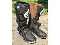 Sixsixone 661 Comp Motorcycle Mx Race Boots Black (uk11)