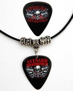 Avenged-Sevenfold-Guitar-Pick-Black-Leather-Necklace