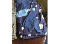 Children's blackout curtains and tiebacks