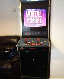 retro mortal kombat coin opperated machine