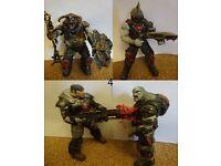 Gears Of War FIGURE set Boomer Mauler Chainsaw Marcus Fenix V3 ocust Drone Chainsawed, Locust Bolter