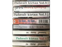 20 cassettes, 2 music and 3 movie dvds - indian hindi devotional songs and movies for hindu