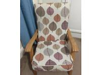 Reupholstered armchair / chair