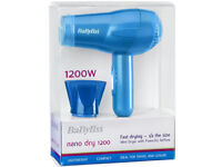 BaByliss Nano dry 1200 Blue Brand New Un-Opened