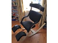 Luxury reclining chair in 'as-new' immaculate condition - Varier Gravity Balans