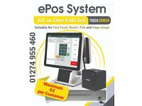 """EPOS system Till–POS All in one 15.6 """" Touch Screen Full Set. Shop epos system software included"""