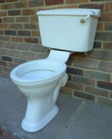 JOB LOT DORCHESTER HERITAGE BATHROOM FIXTURES: 2 X TOILET/ 1 X BASIN / 1 X VANITY BASIN AND CUPBOARD