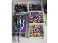 Collection of KNEX, Lego and Meccano