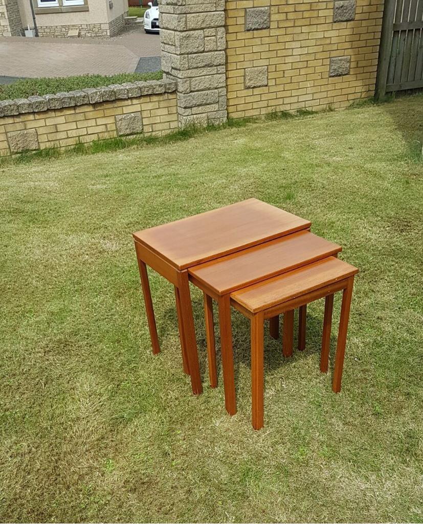 Gumtree Coffee Table Teak: McIntosh Teak Nest Of Tables