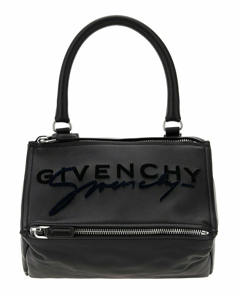 New Authentic Givenchy Small Pandora Embroidered Logo Satchel Shoulder bag