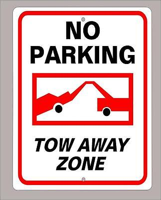 """NO PARKING - TOW AWAY ZONE"" 9""x12"" metal sign -Free Shipping"
