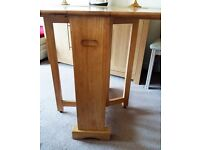 Solid Wood Folding Dining Table (as new)