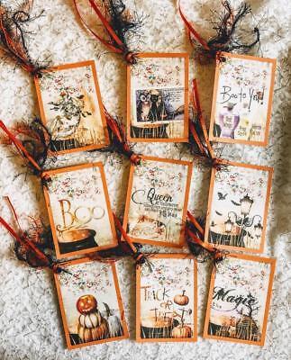 Set of 9 Hang Tags~Vintage Halloween Potions~Gift - Halloween Gift