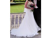 Ivory Lace Wedding Dress size 14