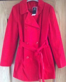 F&F BNWT Red Size 16 Coat