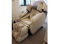 Luxury massage chair INADA Flex 3S, Beige leather.