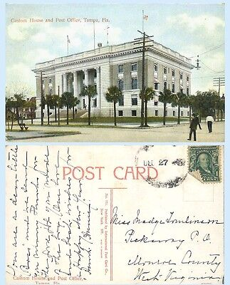 Custom House & Post Office Tampa Floridae c1907 Postcard Architecture