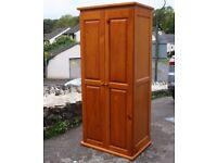 Pine Two Door Double Wardrobe