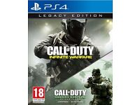 call of duty infinite warfare legacy ps4. Used once.
