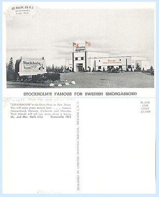 Stockholms Famous Wedish Smorgasboard Somerville New Jersey Advertising Postcard