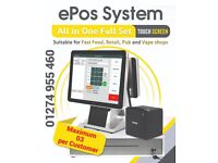 Touch Screen EPOS system, POS Till epos ,Retail pos.All in One Set New.Takeaway,Grocery.Full Setup