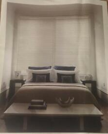 Sunwood real wood Venetian blinds in true white
