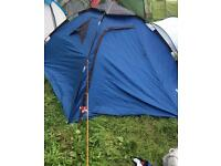 Trespass 4 man, 2 skin, easy assemble tent