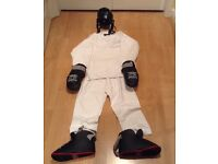 Martial arts protective gear and suit