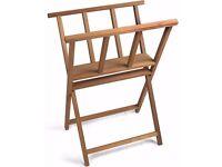 Beechwood Heavy Duty Print Storage Rack Wooden Artwork Display Browser Stand