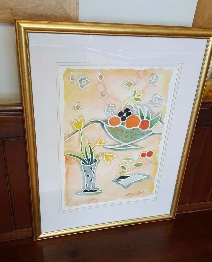 gold framed original watercolour painting by Alan Ball | in North ...