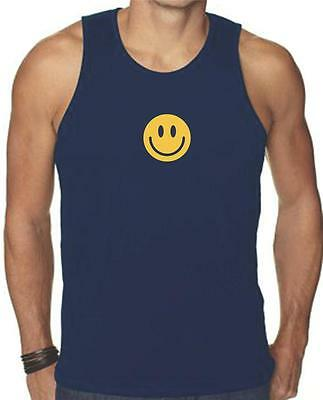 - NEW FOR Men's Printed SMILEY FACE FUNNY MMA HAPPY SMILE GRAPHIC Tank Top TEE
